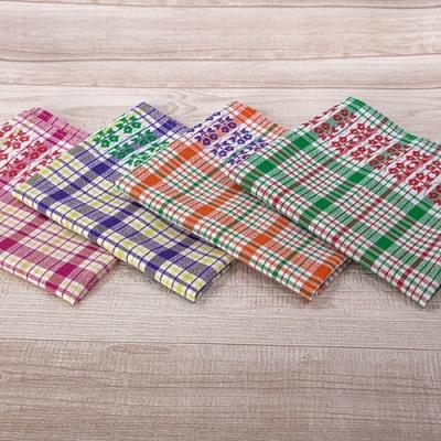 Пестротканые вафельные полотенца